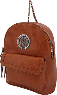 Women Faux Leather Mini Backpack/Lightweight everyday Fashion