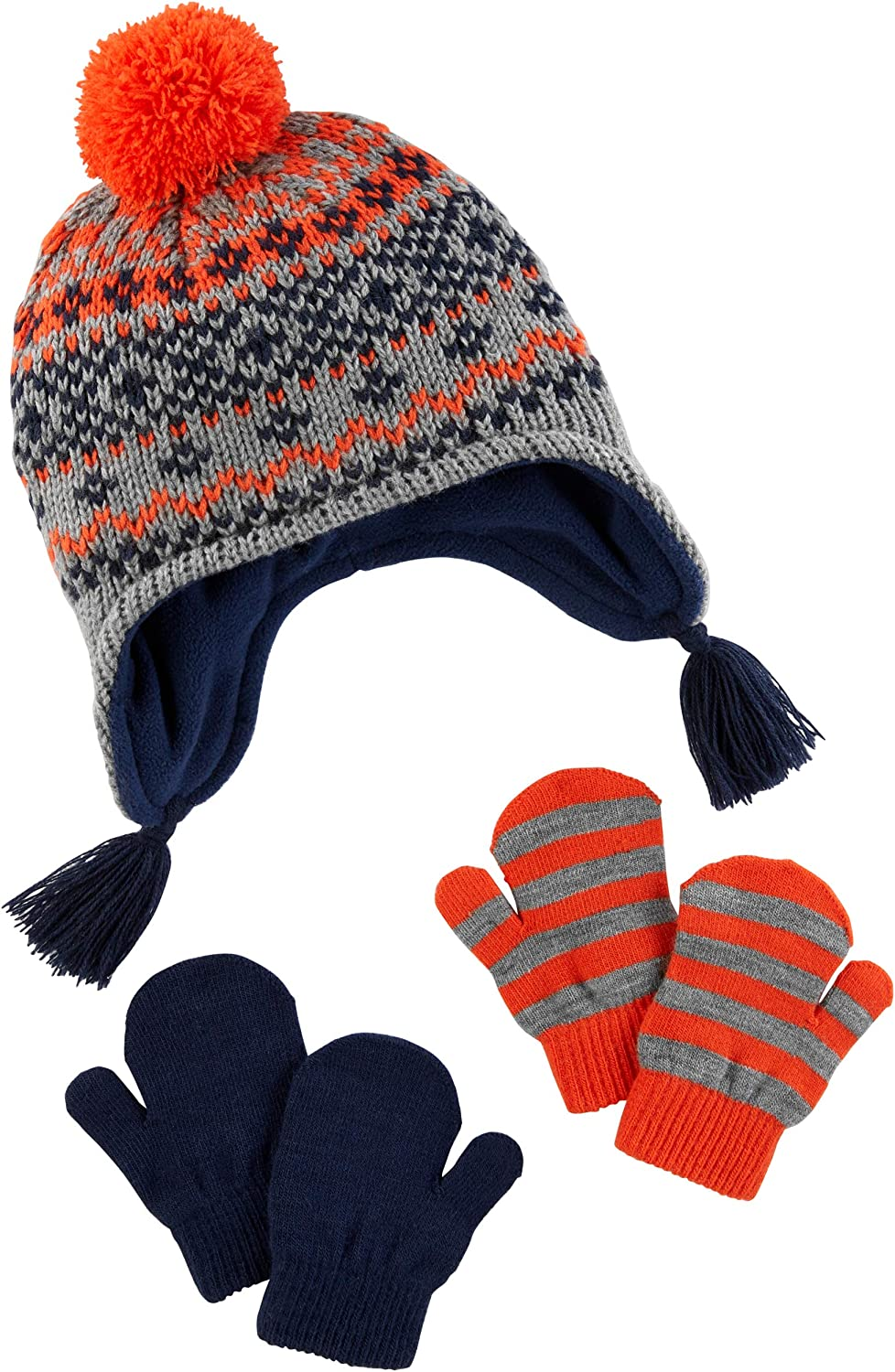 Simple Joys by Carters Hat And Mitten Set Bimbo 0-24
