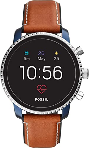 Fossil Men S Gen 4 Explorist HR Heart Rate Stainless Steel And Leather Touchscreen Smartwatch Color Brown Model FTW4016