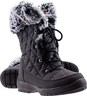 ArcticShield Women's Anna Warm Waterproof Insulated Comfortable Memory Foam Fur Winter Snow Boots