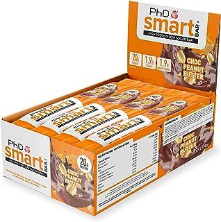 PhD Smart Bar Barritas Proteína Mantequilla de cacahuete con chocolate (12 x 64g), 31% Proteína