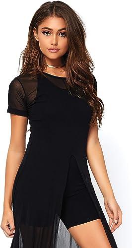 con 60% de descuento Leg Leg Leg Avenue 86400C05001 - Vestido Largo de Malla Transparente con Ranura Alta, para mujer, Color negro, Talla S M (EUR 36-38)  diseñador en linea