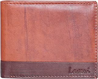 Laveri Bifold Wallet for Men - Leather, Dark Brown and Rust