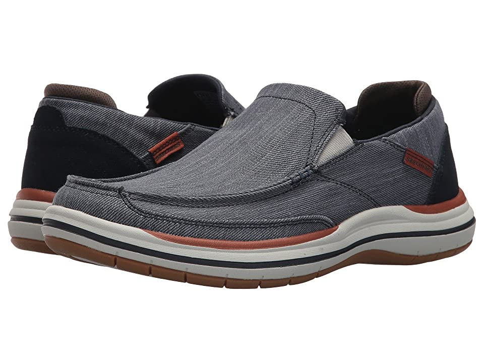 SKECHERS Classic Fit Elson Amster (Navy) Men