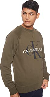 Calvin Klein Jeans Men's Washed Reg Monogram Cn Heavyweight Knits