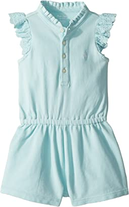 Ralph Lauren Baby Cotton Flutter-Sleeve Romper (Infant)