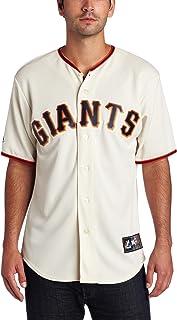MLB San Francisco Giants Brian Wilson Ivory Home Short Sleeve 6 Button Synthetic Replica Baseball Jersey Spring 2012 Men's