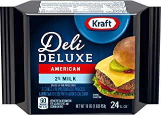 Kraft Deli Deluxe 2% Milk Reduced Fat American Cheese (16 oz Pouch, 24 Slices)