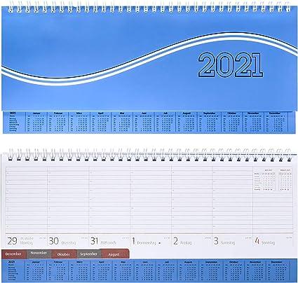 Idena 10978 Tischkalender 2021 Business blau aus FSC-Mix 1 St/ück