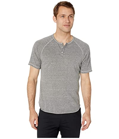 Alternative Short Sleeve Eco Raglan Henley (Eco Grey) Men