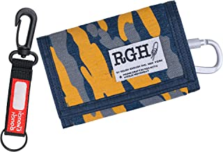 Rough Enough Kids Wallets for Teen Boys Girls Mens Camo Keychain Canvas Card Wallet with Zipper Coin Pocket Unique Birthda...