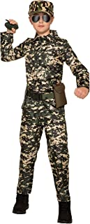 Forum Novelties Child's Army Costume Jumpsuit, As Shown, Large