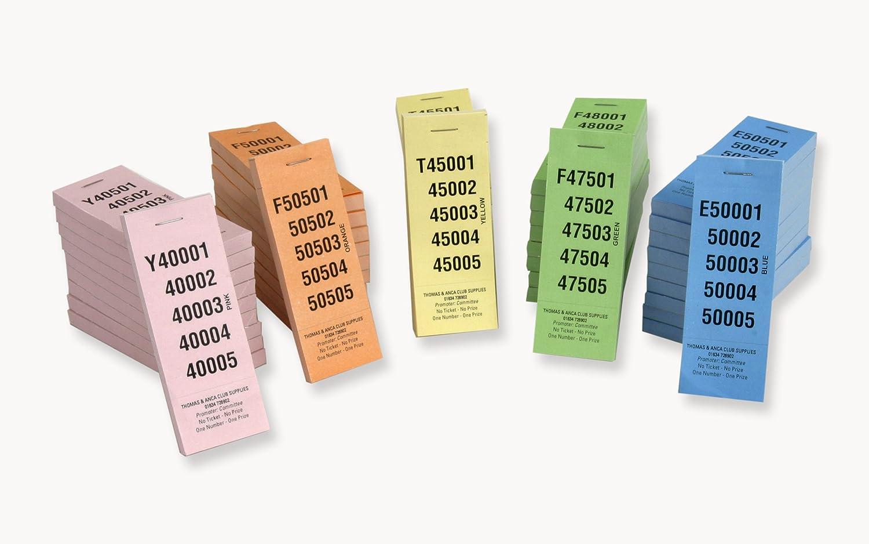 el estilo clásico 5 5 5 No 1 Perforación Rasfle Ticket Numerado 1-100.000 - 5 Colors Diferentes  Compra calidad 100% autentica