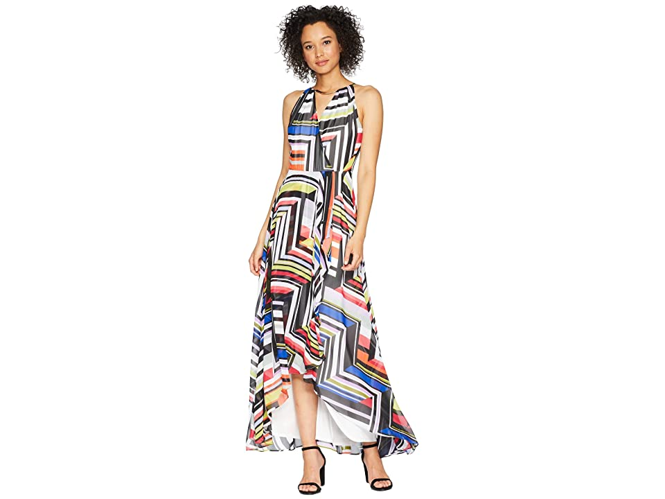 Sangria Multicolor Color Print Maxi Dress (Multi) Women
