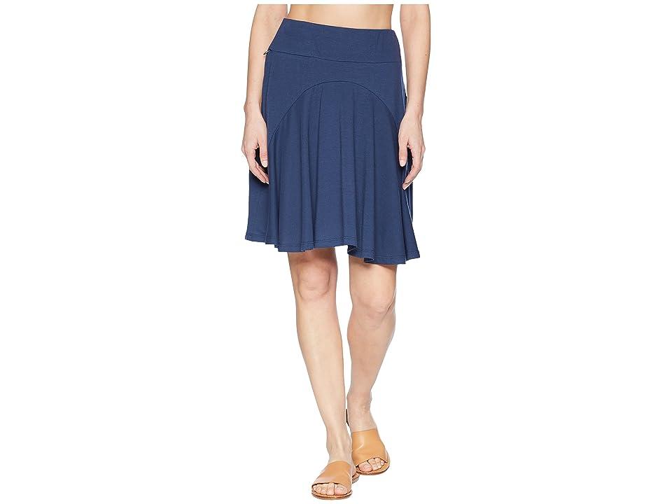 Royal Robbins Essential Tencel(r) Skirt (Deep Blue) Women