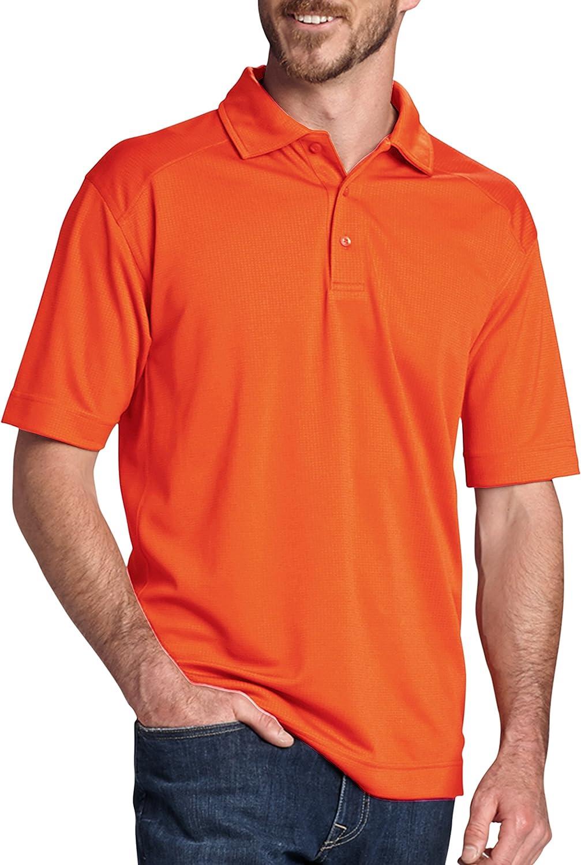 Cutter & Buck Big and Tall CB Drytec Genre Polo (4XTall, College Orange)