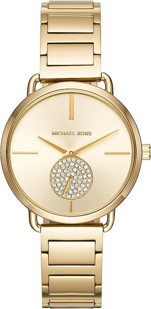 Michael kors, orologio per donna,in acciaio inossidabile, con finitura lucida, di colore gold MK3639