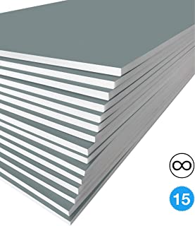 Excelsis Design, Pack of 15, Foam Boards, 20x30 Inches, Gray Color (More Colors Available) 3/16 Inch Thick Mat, (Acid-Free Foam Core Backing Boards, Double-Sided Sheets)