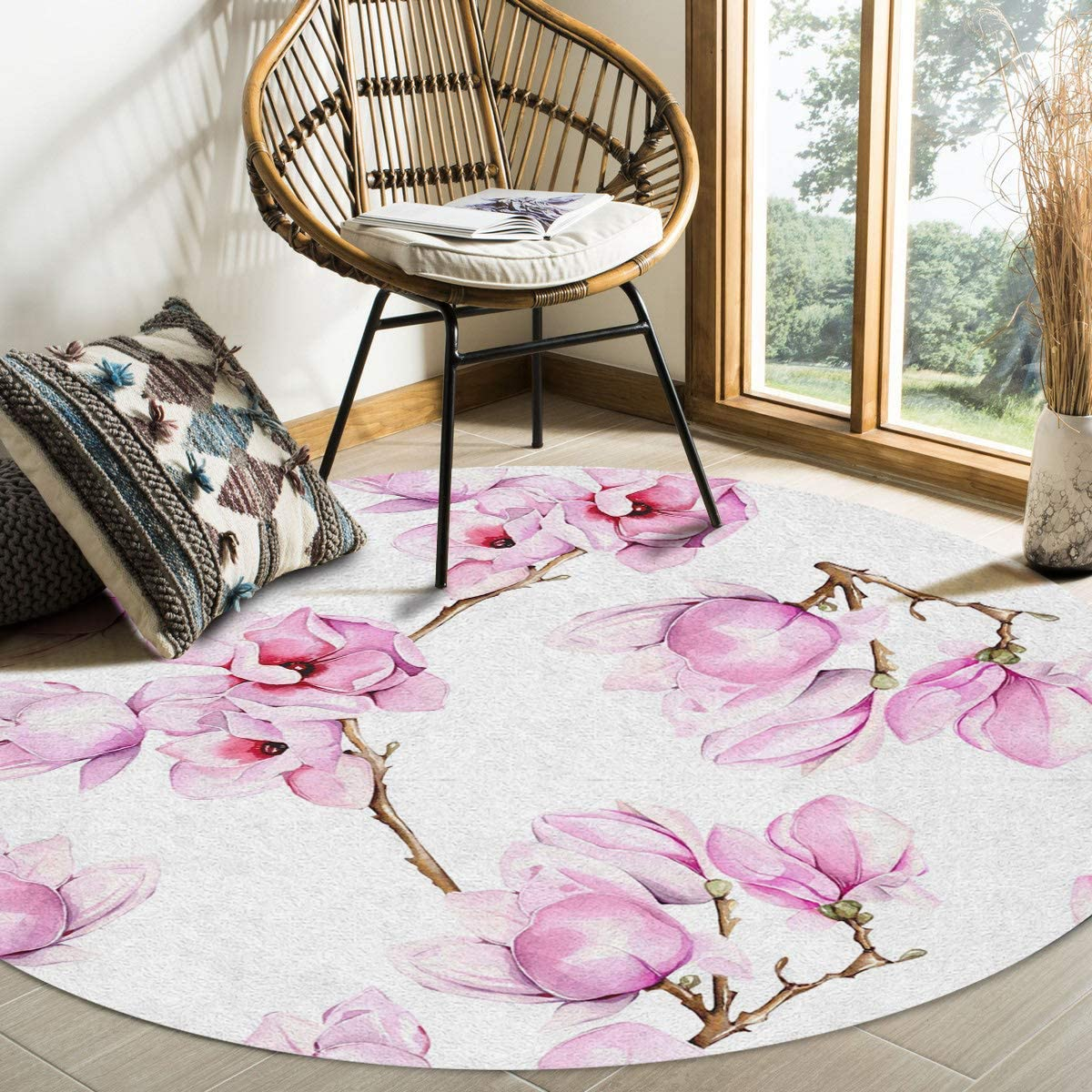 FAMILYDECOR Living Room Round Area Rug Decorate and Soft Be super welcome Tucson Mall Com 5ft