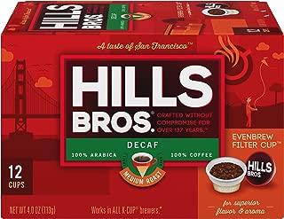 Hills Bros Single Serve Coffee Pods, Decaf Medium Roast - 100% Premium Arabica Coffee - Compatible with Keurig K-Cup Brewers (12 Count)