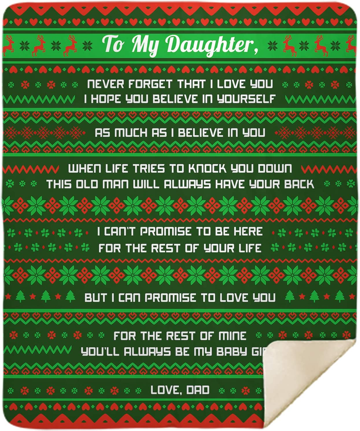 Personalized Ranking TOP15 Ugly Christmas Throws Blanket My to Daughter Never New product type