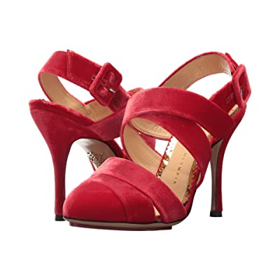 Charlotte Olympia Brenda (Red Velvet) High Heels