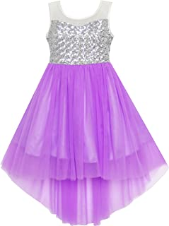 228115117bb0 Sunny Fashion Girls Dress Sequin Mesh Party Wedding Princess Tulle