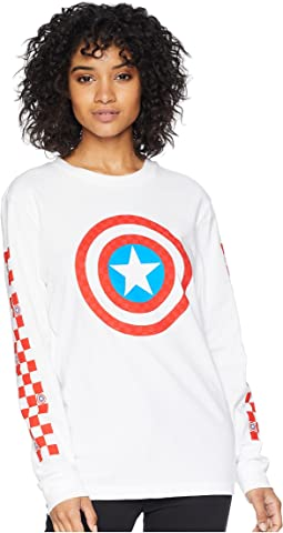 Captain Shields Long Sleeve Boyfriend Tee