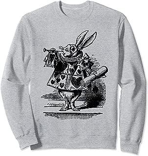 Vintage Alice in Wonderland White Rabbit Sweatshirt