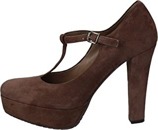 ALBANO Pumps-Shoes Womens Suede Brown