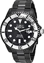 Invicta Men's Pro Diver Quartz Diving Watch with Stainless-Steel Strap, Black, 20.4 (Model: 27542)