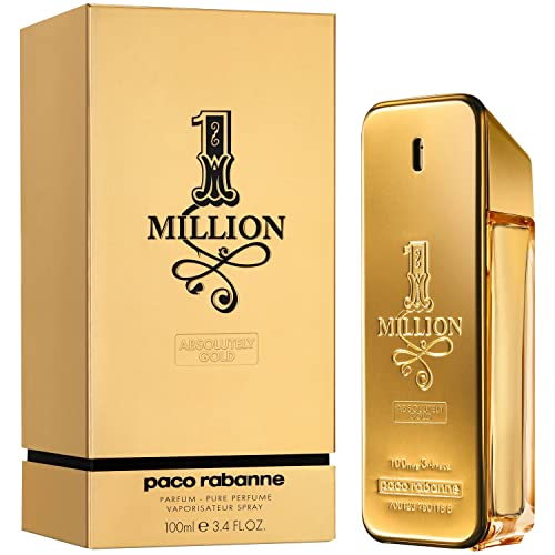 aef995a2a Paco Rabanne One Million Pure Parfum Spray for Men, 3.4 Ounce