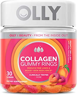 OLLY Collagen Gummy Rings, 2.5g of Clinically Tested Collagen, Boost Skin Elasticity & Reduce Wrinkles, Adult Supplement, ...