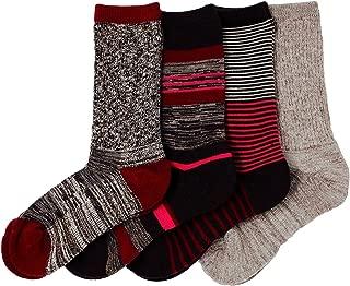 Ladies' Trail Socks Merino Wool (Pink), 4 Pairs, Fits Shoe Size: 4-10.5