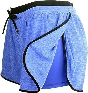 RIBOOM Women Workout Running Shorts 2 in 1 Sport Shorts...