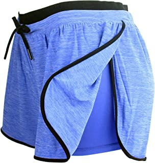 RIBOOM Women Workout Running Shorts 2 in 1 Sport Shorts...
