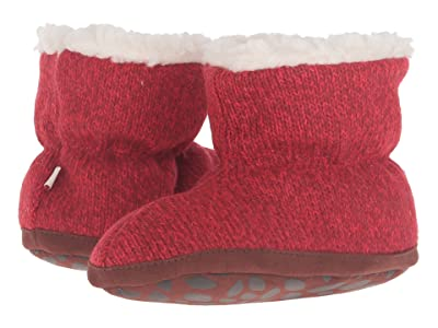 Acorn Kids Easy Bootie Ragg (Infant/Toddler) (Red Ragg Wool) Girls Shoes