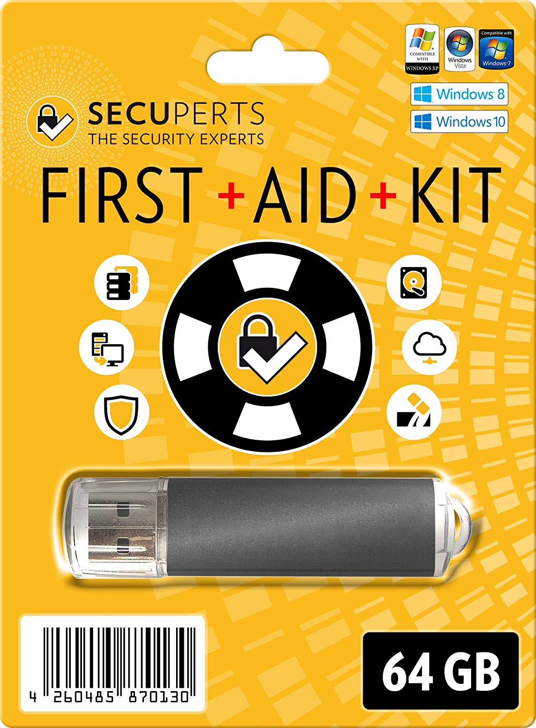SecuPerts First Aid Miami Mall Kit Max 87% OFF - and Recovery Data Virus-Scanner Stick