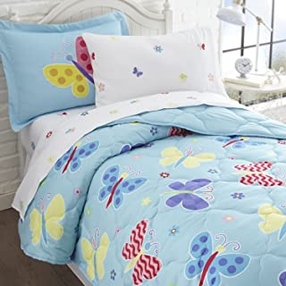 Wildkin 7Piece Full Bed-In-A-Bag, 100% Microfiber Bedding Set, Includes Comforter, Flat Sheet, Fitted Sheet, Two Pillowcas...