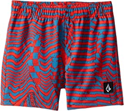 Logo Shifter Volley Boardshorts (Toddler/Little Kids)