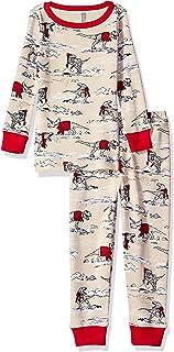 Gymboree Boys' Big 2-Piece Tight Fit Sleeve Long Bottoms Pajama Set