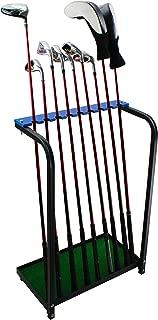 Crestgolf Golf Club Organizers Golf Club Display Shelf Golf Driver Rack for 9 pcs-Blue, Metal
