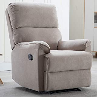 CANMOV Recliner Chair for Living Room, 1 Seat Motion Home Theater, Single Manual Reclining Chair, Camel