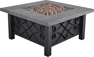 Bond Manufacturing 67531 Marbella Steel Gas Fire Table, 34.5-Inches by 34.5-Inches by 18-inches