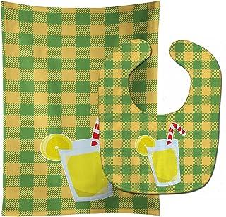 Caroline's Treasures Backyard BBQ Lemonade No. 1 Baby Bib & Burp Cloth, Multicolor, Large