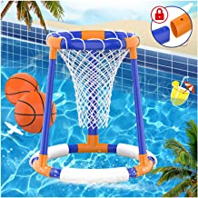 FOSUBOO Water Toys Pool Game - Swimming Pool Basketball Game, Floating Pool Basketball Hoop for Kids Adults, Inflatable Ho...