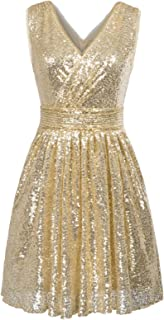 f1f07851e0 Kate Kasin Women Sequin Bridesmaid Dress Sleeveless Maxi Evening Prom  Dresses