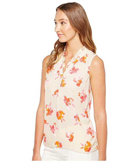 Shell V Ruffle Ellen Tracy Neck fZpEwWq4nv