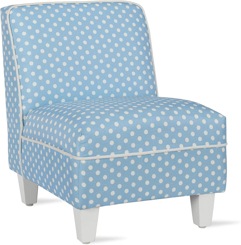 Baby Relax Lisette Kid Size Slipper, Powder Blue Polka Dots Chair
