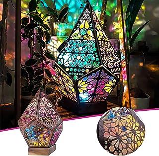 PEALOV Polar Star stor golvlampa, bohemisk golvlampa, LED färgglada diamantlampor, färgglada 3D-projektion ihålig lampa, b...